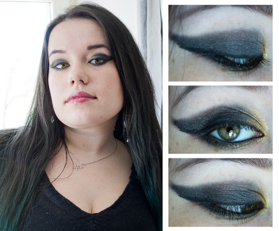 maquillage sorciere yeux