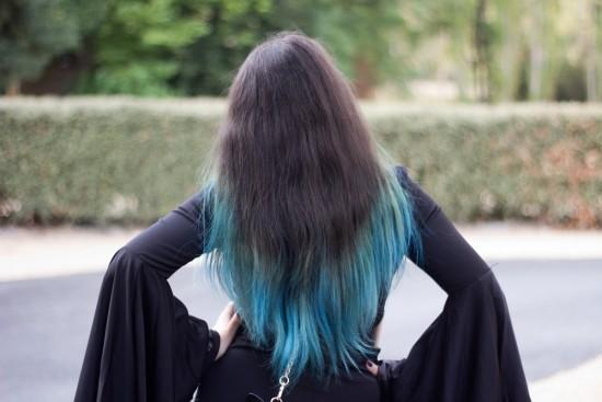 je refais mon ombre hair bleu  vid u00e9o