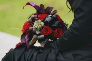 bouquet mariage gothique sandrine alexandre